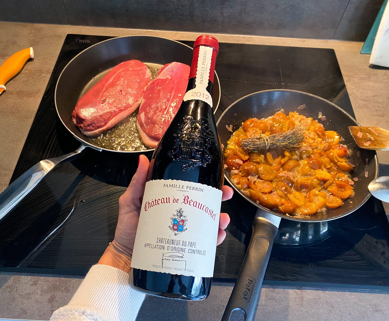 Wine pairing: Quand un magret de canard rencontre un Chateauneuf-du-Pape: réussite assurée !